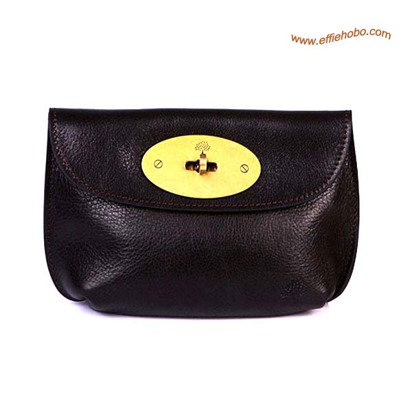 Mulberry Bayswater Leather Clutch Bag Brown