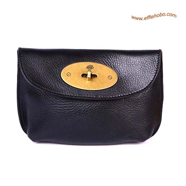 Mulberry Bayswater Leather Clutch Bag Black