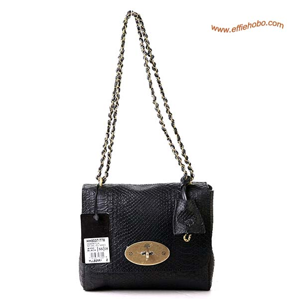 Mulberry Lily Shoulder Bag Black