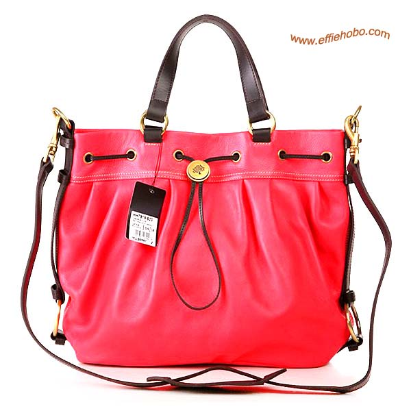 Mulberry Somerset Leather Satchel Bag Red