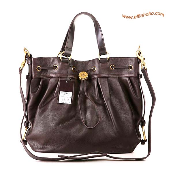 Mulberry Somerset Leather Satchel Bag Brown