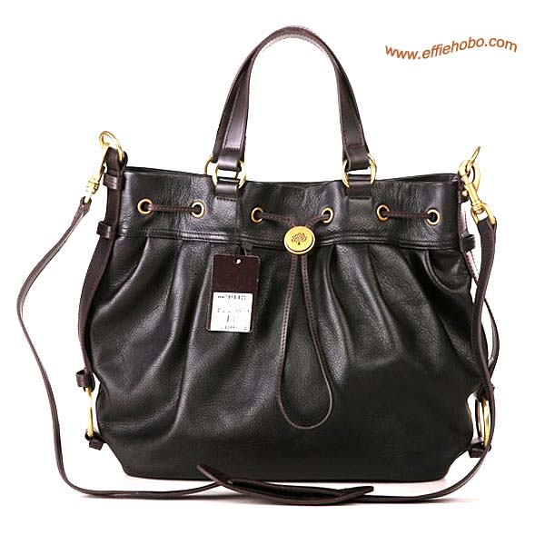 Mulberry Somerset Leather Satchel Bag Black
