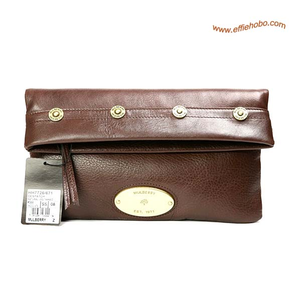 Mulberry Mitzy Clutch Bag Brown