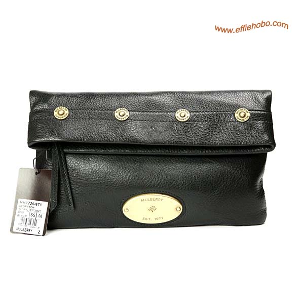Mulberry Mitzy Clutch Bag Black