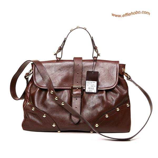 Mulberry Lizzie Leather Satchel Bag Brown