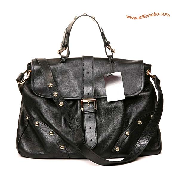 Mulberry Lizzie Leather Satchel Bag Black
