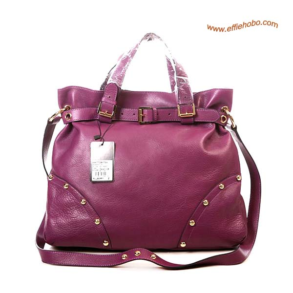 Mulberry Lizzie Leather Tote Bag Purple