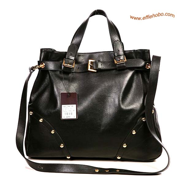 Mulberry Lizzie Leather Tote Bag Black