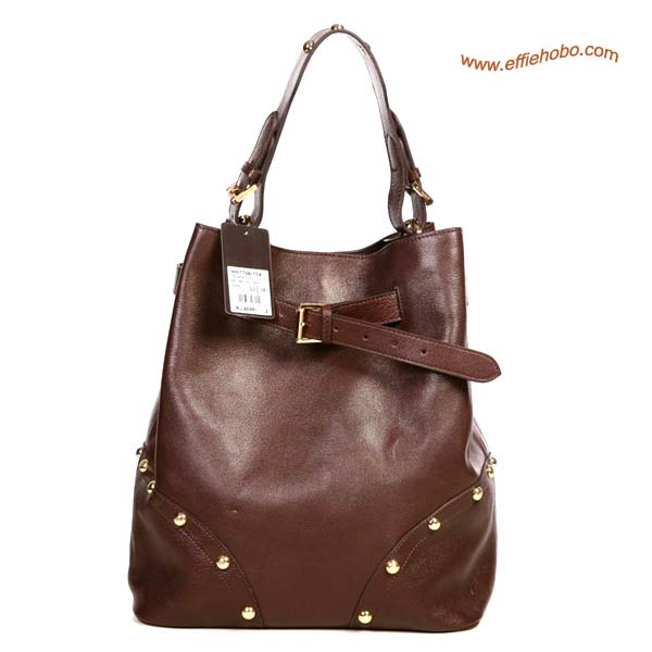 Mulberry Lizzie Leather Hobo Bag Brown