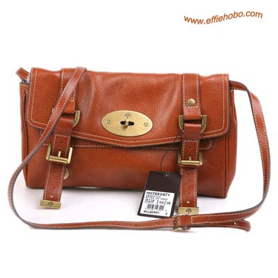 Mulberry Medium Alexa Leather Satchel Bag Oak
