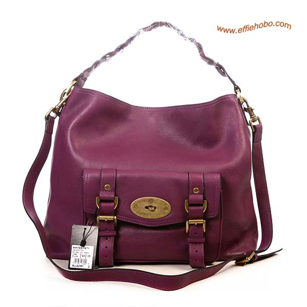 Mulberry Alexa Leather Hobo Bag Purple