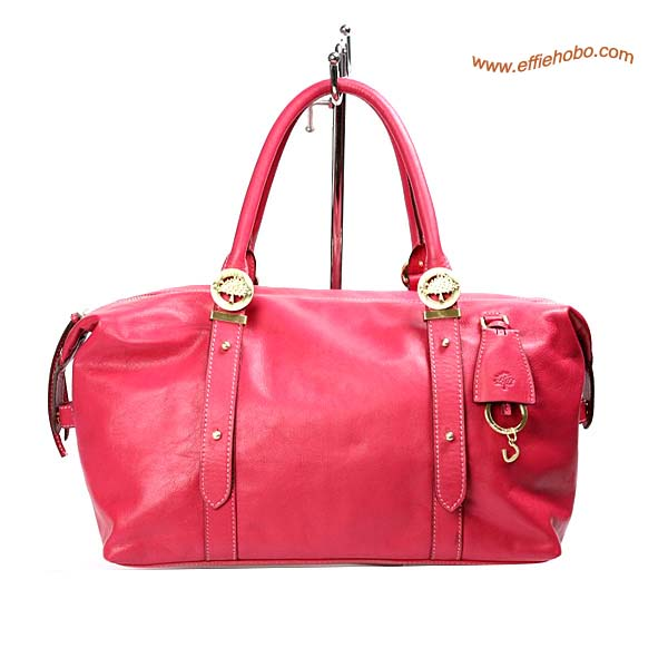 Mulberry Drew Clipper Leather Tote Bag Red