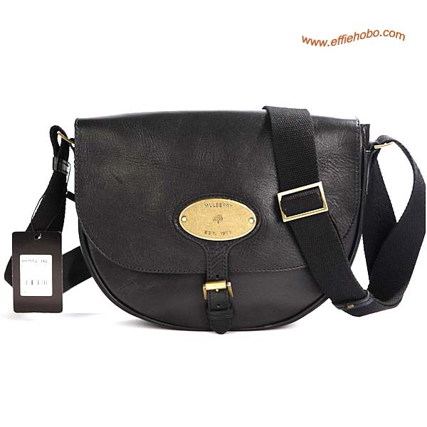 Mulberry Bonnie Leather Satchel Bag Black