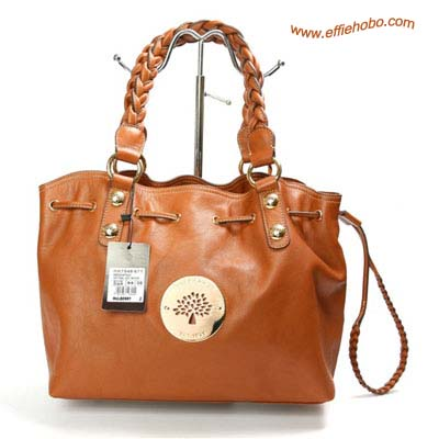 Mulberry Daria Drawstring Leather Tote Bag Oak
