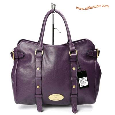 Mulberry Hayden Leather Tote Bag Purple