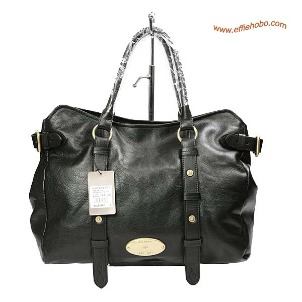 Mulberry Hayden Leather Tote Bag Black
