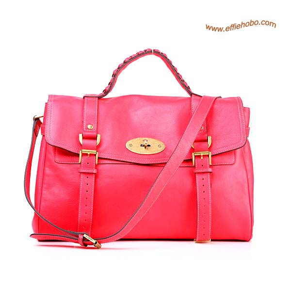Mulberry Alexa Leather Satchel Bag Red