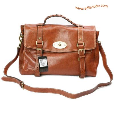 Mulberry Alexa Leather Satchel Bag Oak