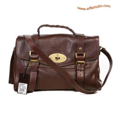 Mulberry Alexa Leather Satchel Bag Brown