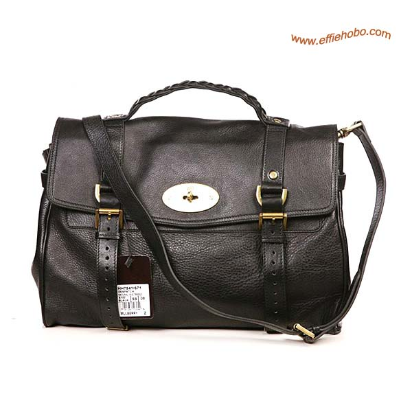 Mulberry Alexa Leather Satchel Bag Black