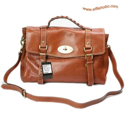 Mulberry Mini Alexa Leather Satchel Bag Oak