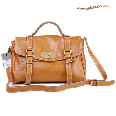 Mulberry Mini Alexa Leather Satchel Bag Camel