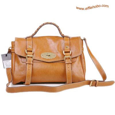Mulberry Standard Alexa Leather Satchel Bag Camel