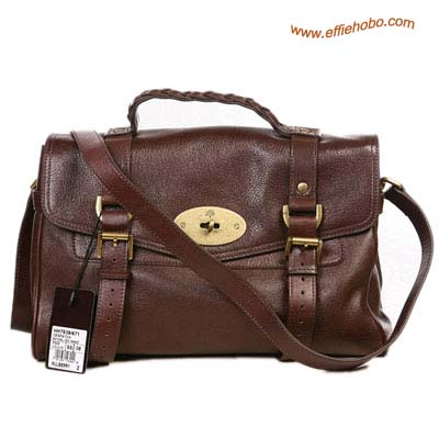 Mulberry Standard Alexa Leather Satchel Bag Brown