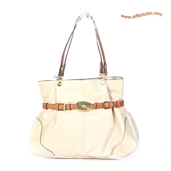 Mulberry Beatrice Leather Tote Bag White