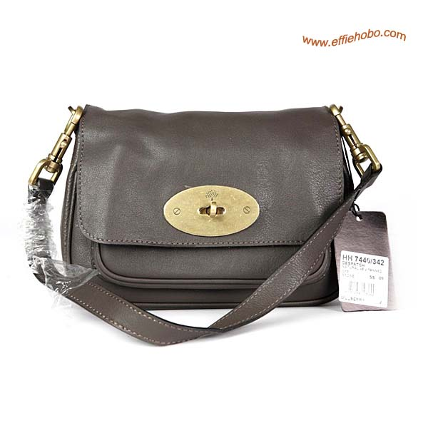Mulberry Camera Leather Satchel Bag Gray