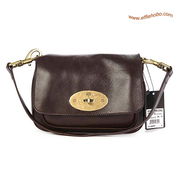 Mulberry Camera Leather Satchel Bag Brown