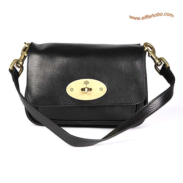 Mulberry Camera Leather Satchel Bag Black Lether