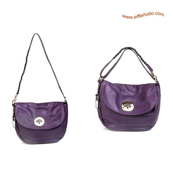 Mulberry Small Daria Leather Satchel Bags Purple
