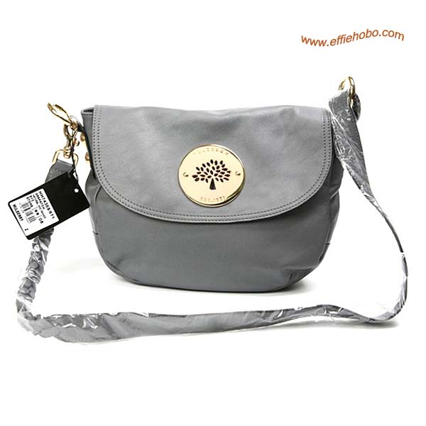 Mulberry Small Daria Leather Satchel Bags Gray