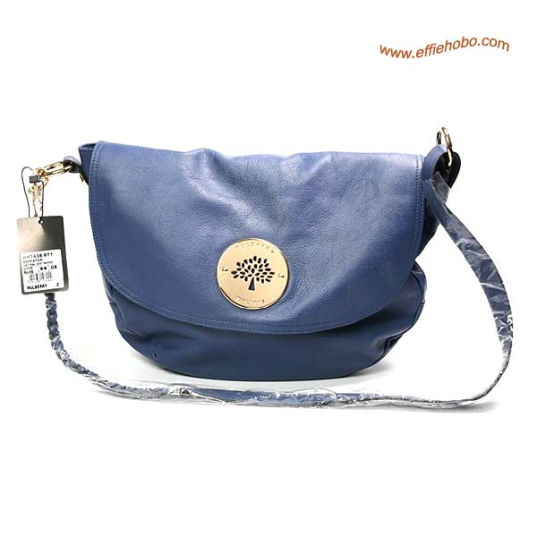 Mulberry Small Daria Leather Satchel Bags Blue