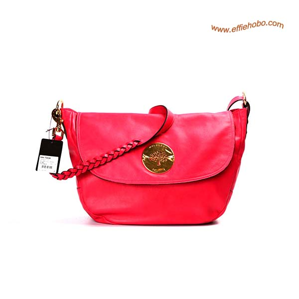 Mulberry Daria Leather Satchel Bags Red