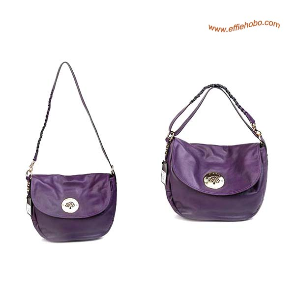 Mulberry Daria Leather Satchel Bags Purple
