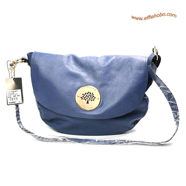 Mulberry Daria Leather Satchel Bags Blue