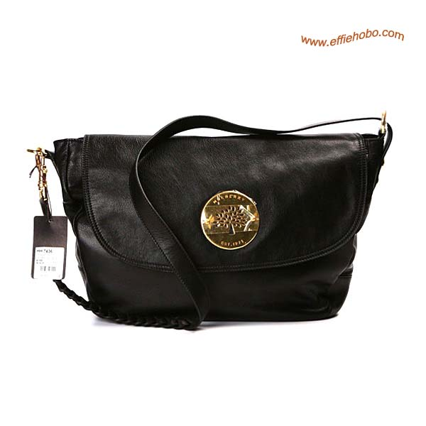 Mulberry Daria Leather Satchel Bags Black