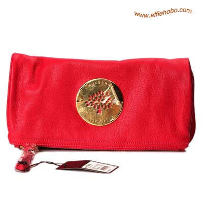Mulberry Daria Clutch Bags Red