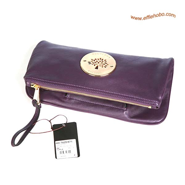 Mulberry Daria Clutch Bags Purple