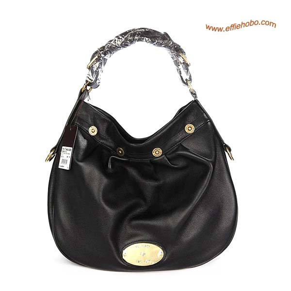 Mulberry Mitzy East West Leather Hobo Bag Black