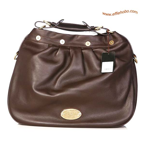 Mulberry Mitzy Leather Hobo Bag Brown
