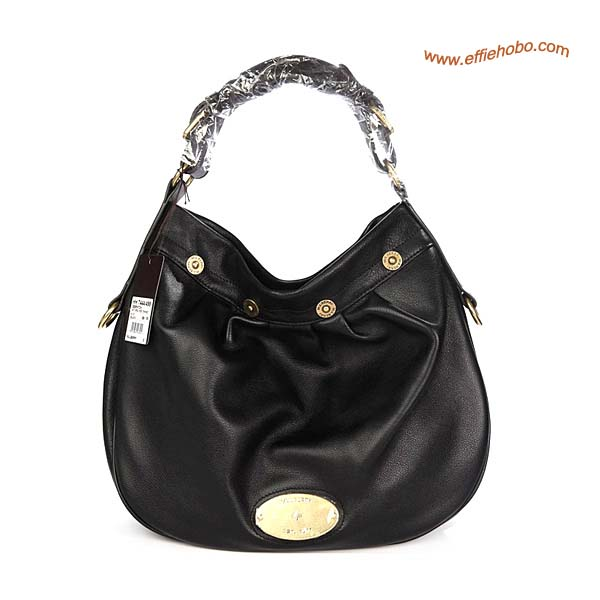 Mulberry Mitzy Leather Hobo Bag Black