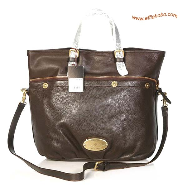 Mulberry Mitzy Leather Tote Bag Brown