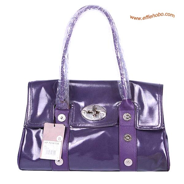 Mulberry East West Bayswater Mixed Buckle shoulder Bag Purple
