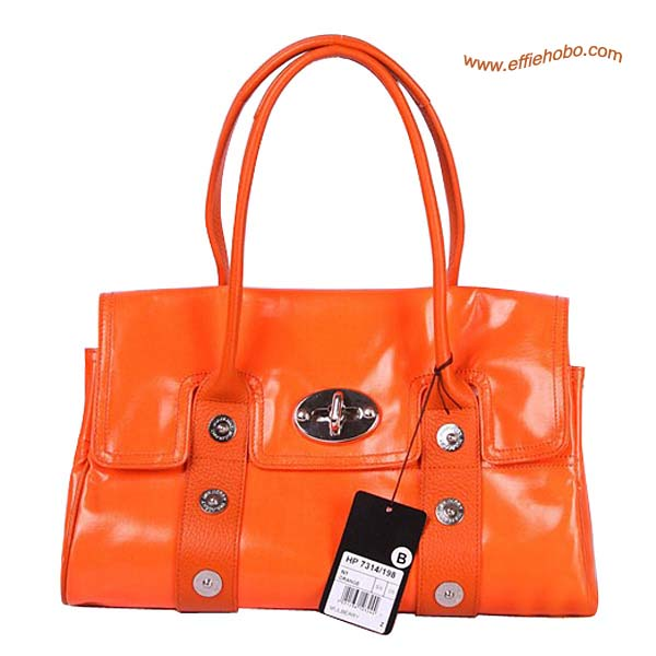 Mulberry East West Bayswater Mixed Buckle shoulder Bag Orange