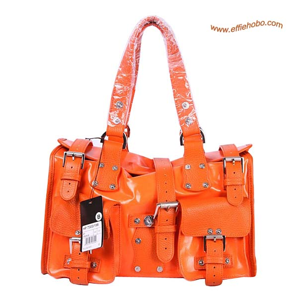 Mulberry Roxanne Classic Leather Tote Bag Orange
