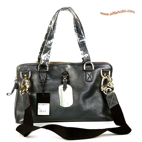 Mulberry Euston Leather Tote Bag Dark Gray