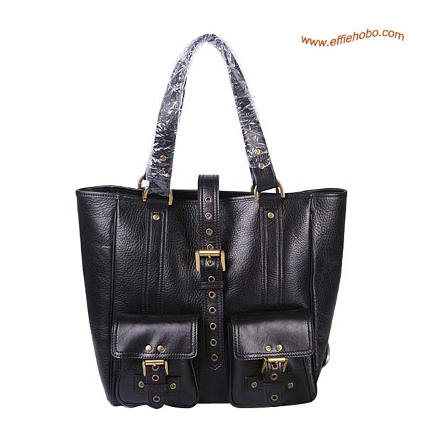 Mulberry Roxanne Leather Tote Bag Black